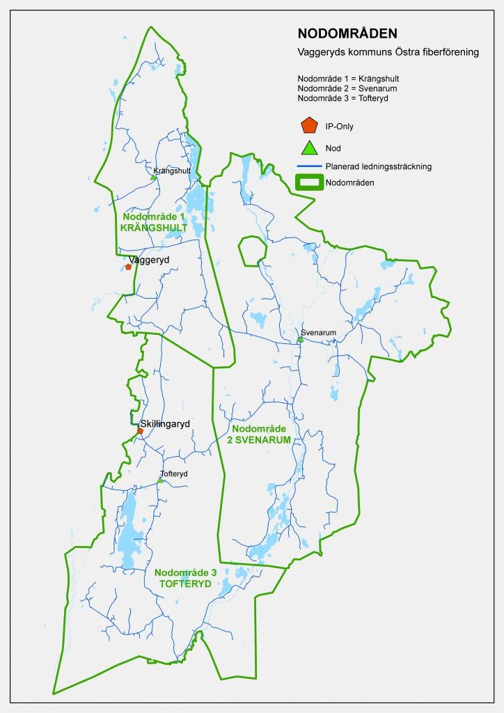 Karta över nodområden